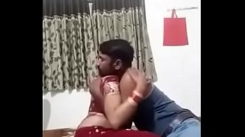 hotel five couple star red indian saree Mixed wrestling tickle