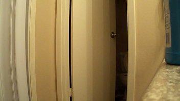 shower voyeur hidden in Dirtry talking wife slut