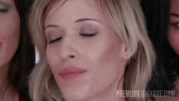 cum booth white at black twinks swallows Shemale bisexual cum eating