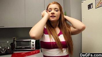 kitchen skirt in teen Avena lee her new glasses