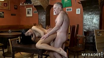 homewith alone dad Woman bound spanked gets inflatable dildo funk