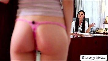 lesbian mom stepdaughter Seethrough panties nylon