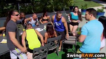 swing playboy tv season jon jess and Tied naked to lamp post