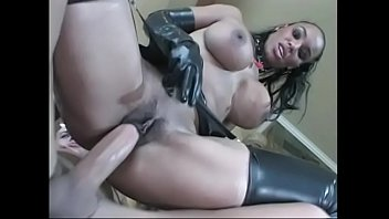 sex gown dressed White guy fucks friends black mother