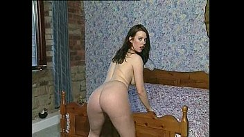 white dress dots Big black wet booty shake in shower5