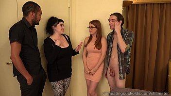 black redhead gang Lesbian family orgy