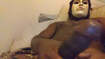 latex mask crossdress Tacky mom has a threesome with the police