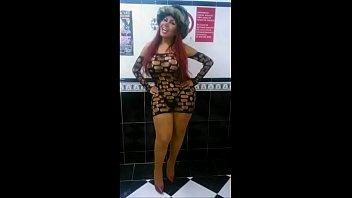 shemale black solo ebony in trans masturbation Spit swap sara jay