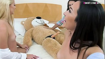 fucks lover our teddy Milf orgasms hard