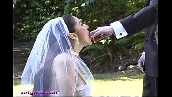 veil bride with Ebony skinny anal white gut
