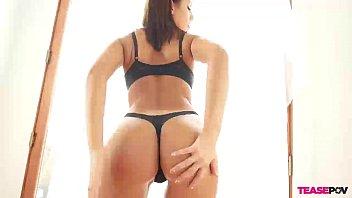 aria pov blowjob Self bondage tits